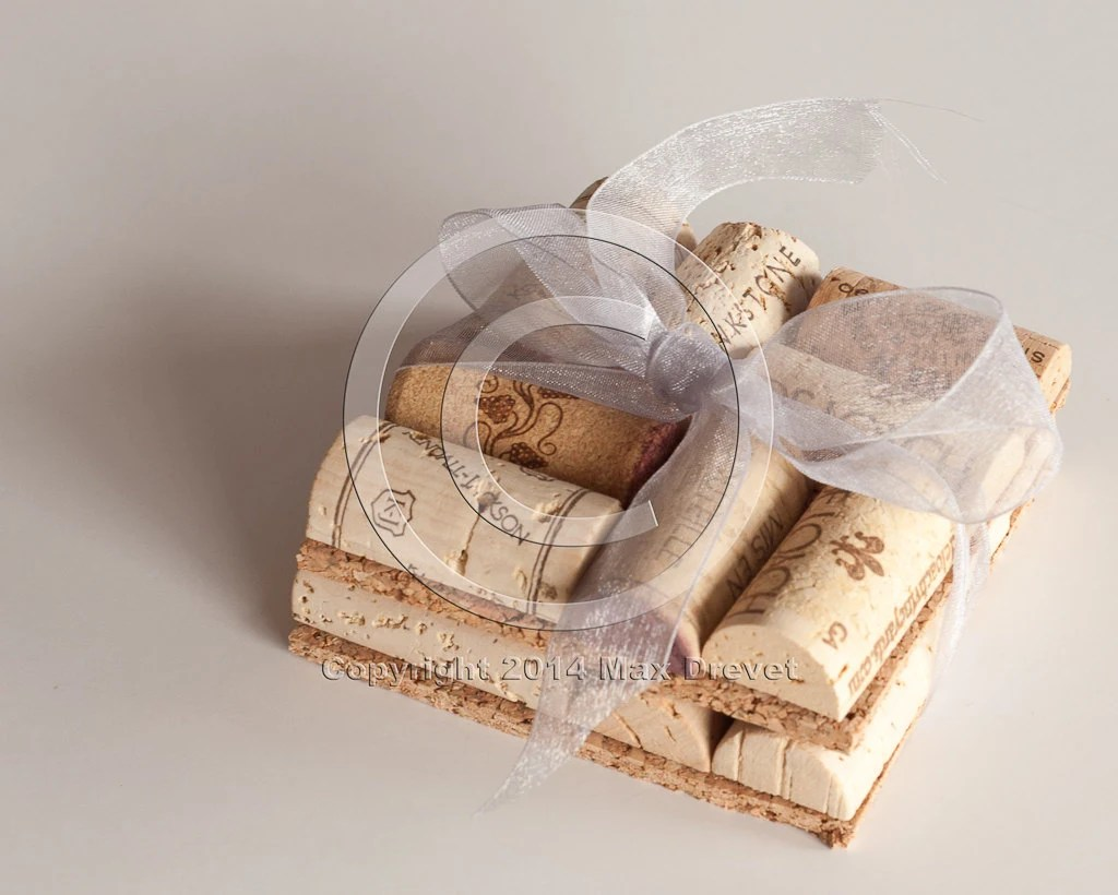 Wedding Gift Wine Cork Coasters Set Of 2 Wine Cork Crafts