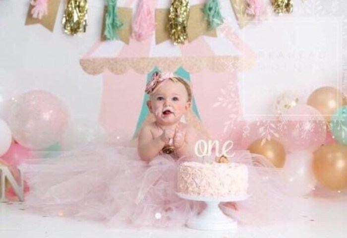 Beautiful Baby Girl First Birthday Tutu Dress In Pink And Gold Etsy