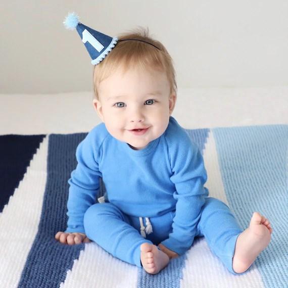 1st Birthday Boy Boy Felt Birthday Hat First Birthday Boy Etsy