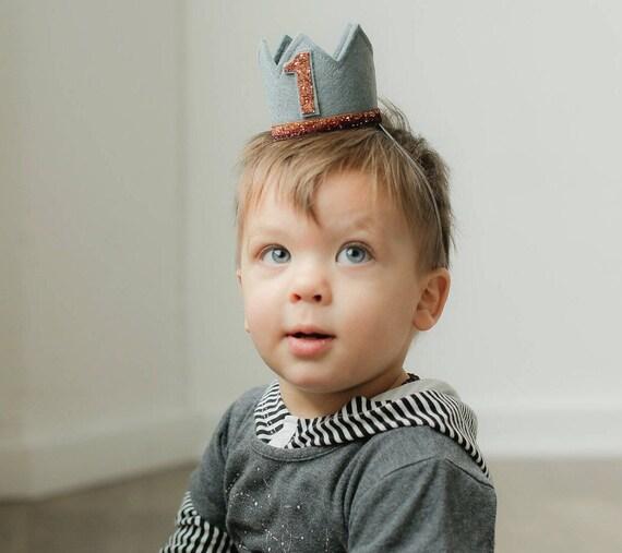 Birthday Crown Boy First Birthday Crown Boy Boy Half Etsy