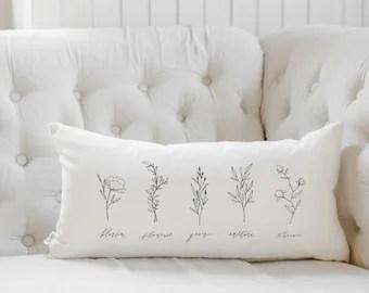 lumbar throw pillow etsy