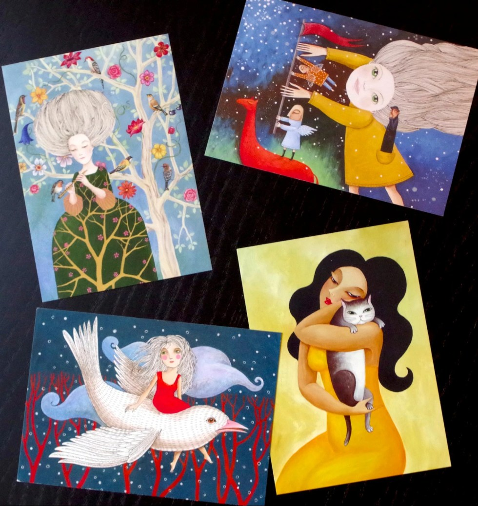 set of 4 postcards from R...