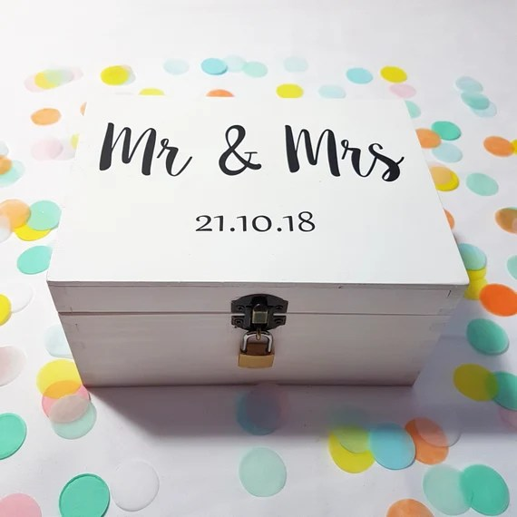Personalised Mr and Mrs Wedding box