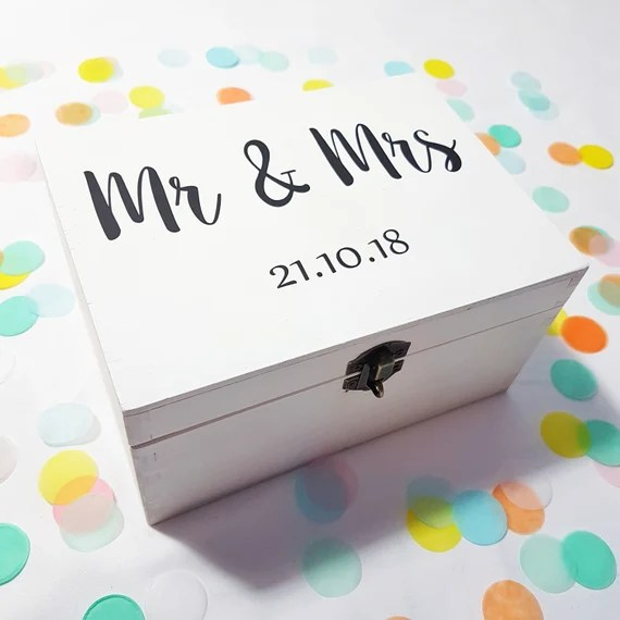 Personalised Mr and Mrs Wedding Box