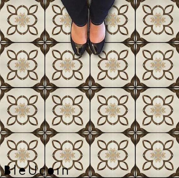art nouveau tile wall stair floor self adhesive vinyl etsy