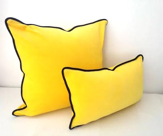 canary yellow velvet throw pillow 10 by