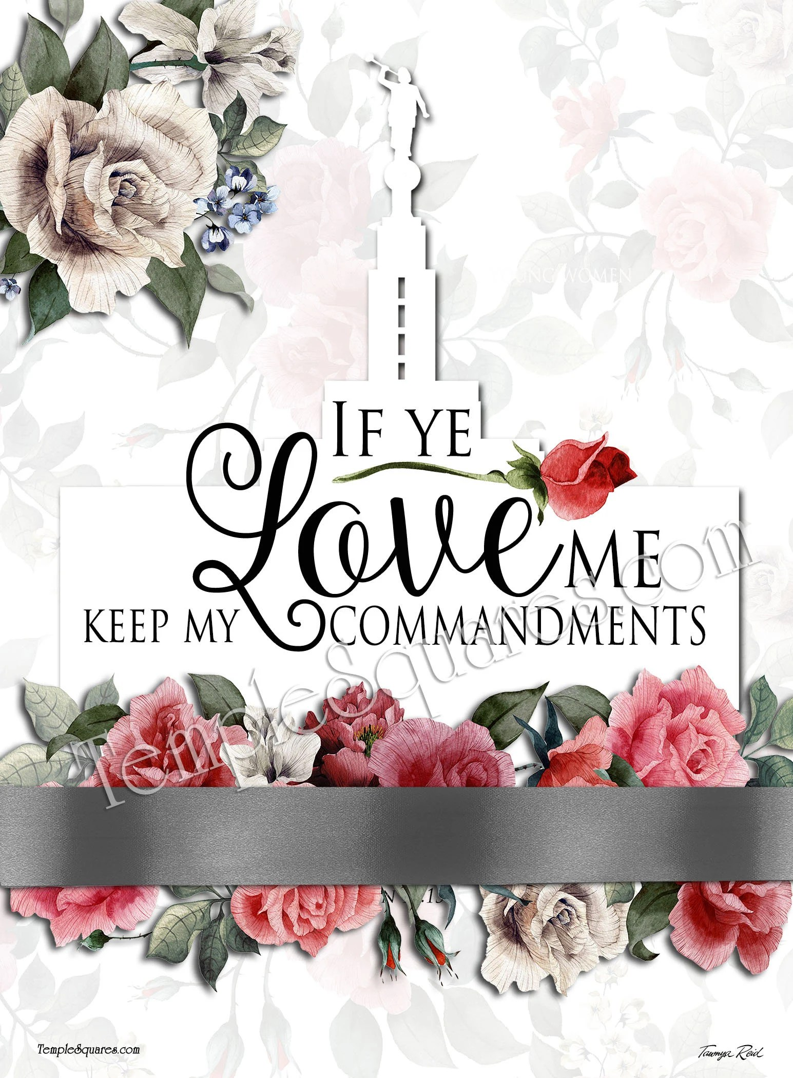 Mutual Theme Lds Yw If Ye Love Me Keep My Commandments John 14 15 Printable Posters