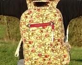 Owl print backpack, stude...