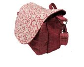Red Handbag with adjustab...