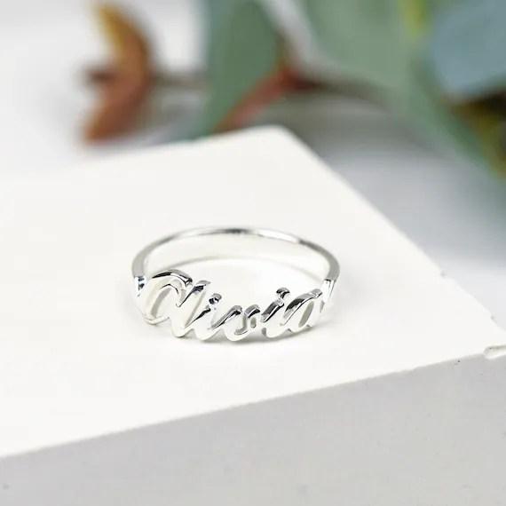 Personalised name ring