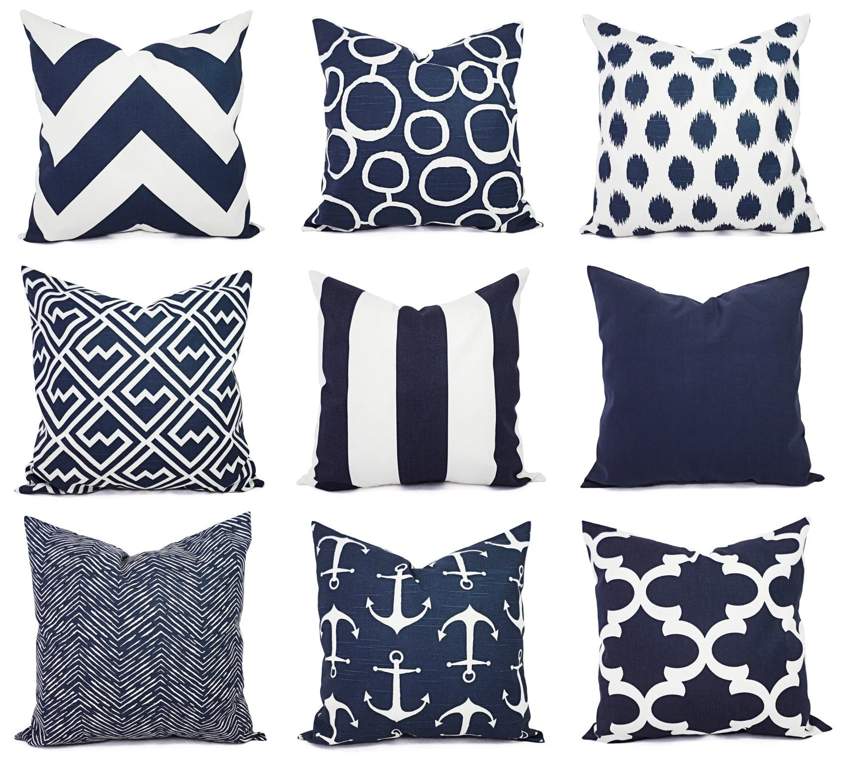 one navy and white pillow covers 16 x 16 inch navy blue throw pillow cover decorative pillow cushion cover navy blue pillows