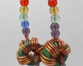 Torroidal inductor earrings