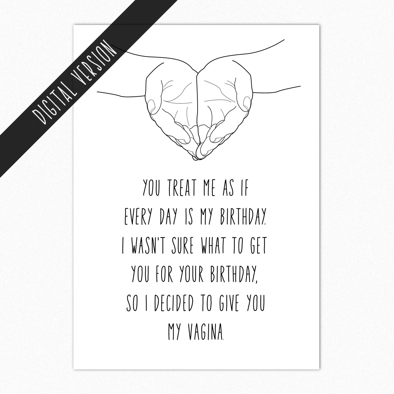 Printable Birthday Card For Boyfriend Diy Birthday Card For Etsy