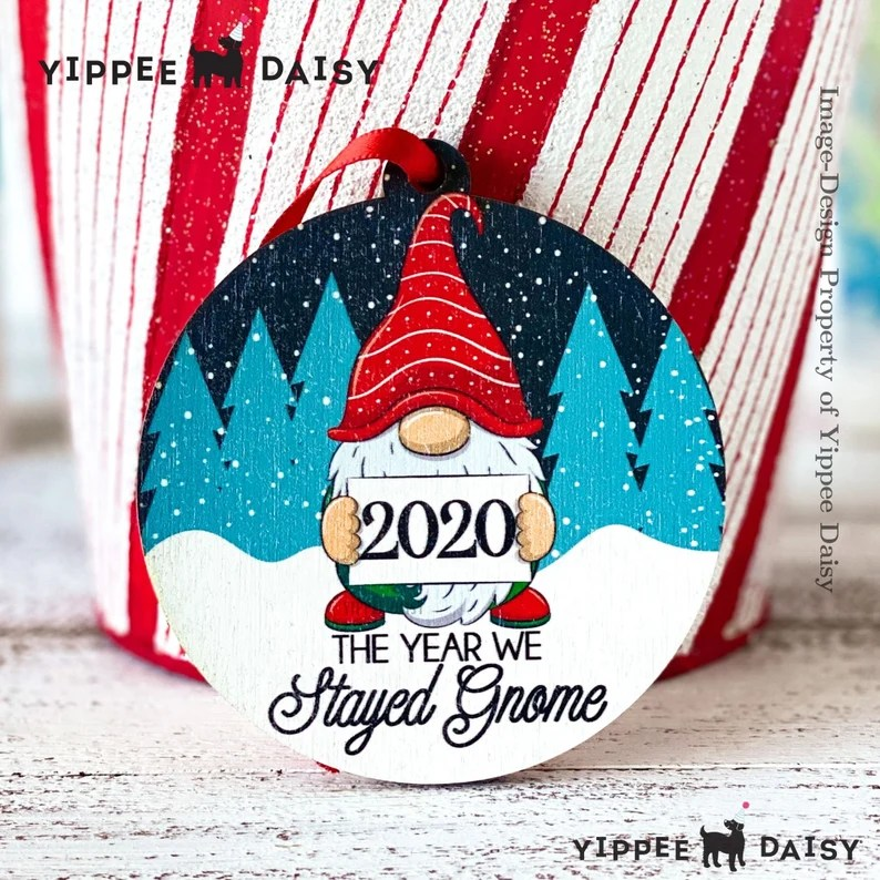 2020 The Year We Stayed Home Christmas Ornament Lockdown image 0