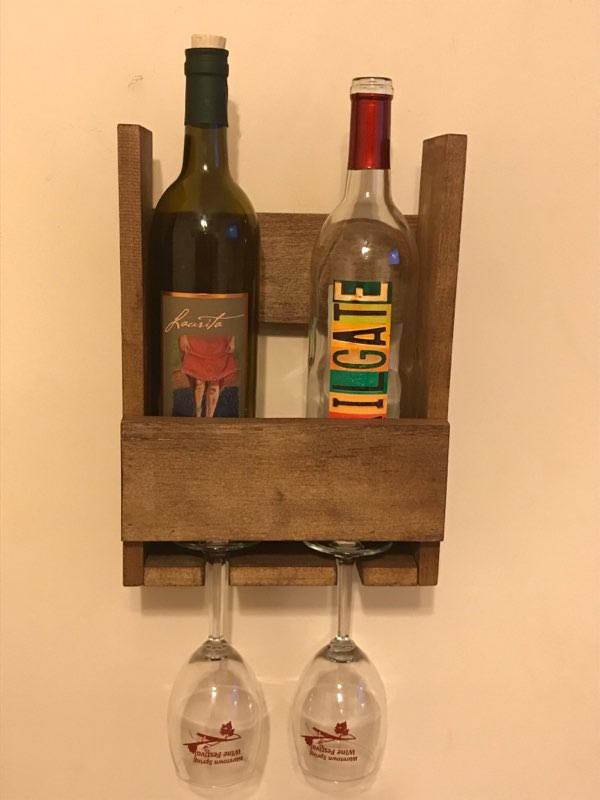 Casier Vin Palette Rustique En Bois Rcupr Etsy