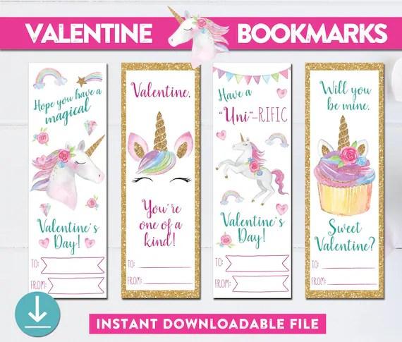 printable unicorn bookmarks # 2