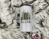 Merry Christmas Glitter Tumbler Glittered Covered Christmas Cup Customized Custom Birthday Gift for Her