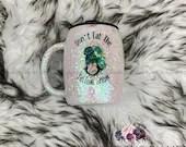 Penguin Glitter Tumbler Glittered Covered Penguin Cup Customized Custom Holiday Gift for Her