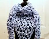 Luciana Triangle Scarf in 'Chambray'