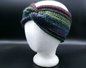 Twisted Ear Warmer in 'Imaginary Garden'