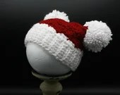 Newborn Winter Hat w/pom poms