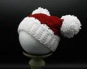 Newborn Winter Hat w/pom poms