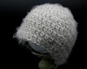 Simple and Soft Beige and White Baby Beanie