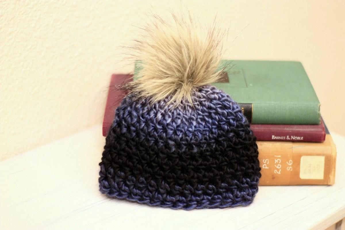 Newborn Faux Fur Pom Pom Hat