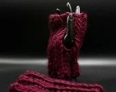 Thick Wool Blend Hand Warmers in 'Wine'