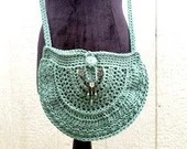Handmade Teal Crossbody Bag w/ Teal brass beaded embellishment