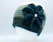 Flower Beanie in 'Terrarium Green'