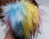 Rainbow Drive-In Faux Fur Pom Pom