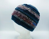 Bucket Beanie in Blue and Gray