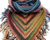 Hooded Scarf with Fringe