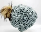 Bauble Beanie w/Pom in 'Sage'