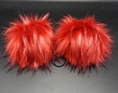 Cherry Shave Ice Faux Fur Pom Pom