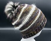 Illusion Beanie w/Fur Pom