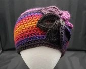 Flower Beanie in 'Volcano'