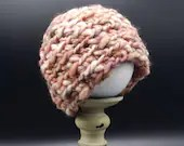 Thick and warm Baby Beanie in 'Rust' - Size 0-3 Months