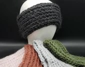 Antique Farm Earwarmers in 5 colors:  Rust, Green, Black, Pink, Gray