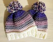 0-3 months Winter Hat w/pom pom
