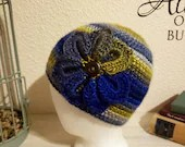 Flower Beanie in 'Twilight'