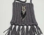 Boho Crossbody Bag with Beaded Embellishment