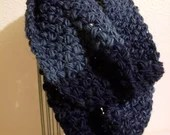 Thick Infinity Scarf in 'Navy Denim'