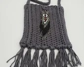Boho Crossbody Bag with Beaded Embellishment
