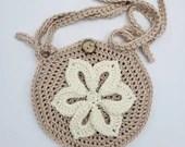 Crochet Flower Crossbody Bag