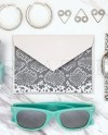 Teal Turquoise Silver Beauty Styled Stock Photo Sunglasses Etsy