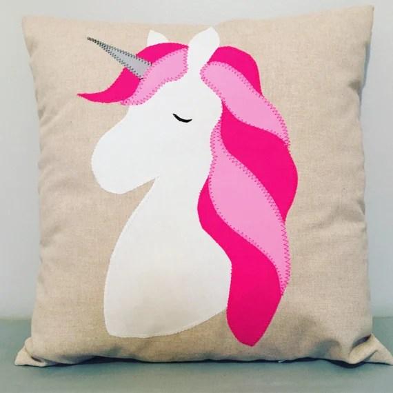 Pink unicorn cushion