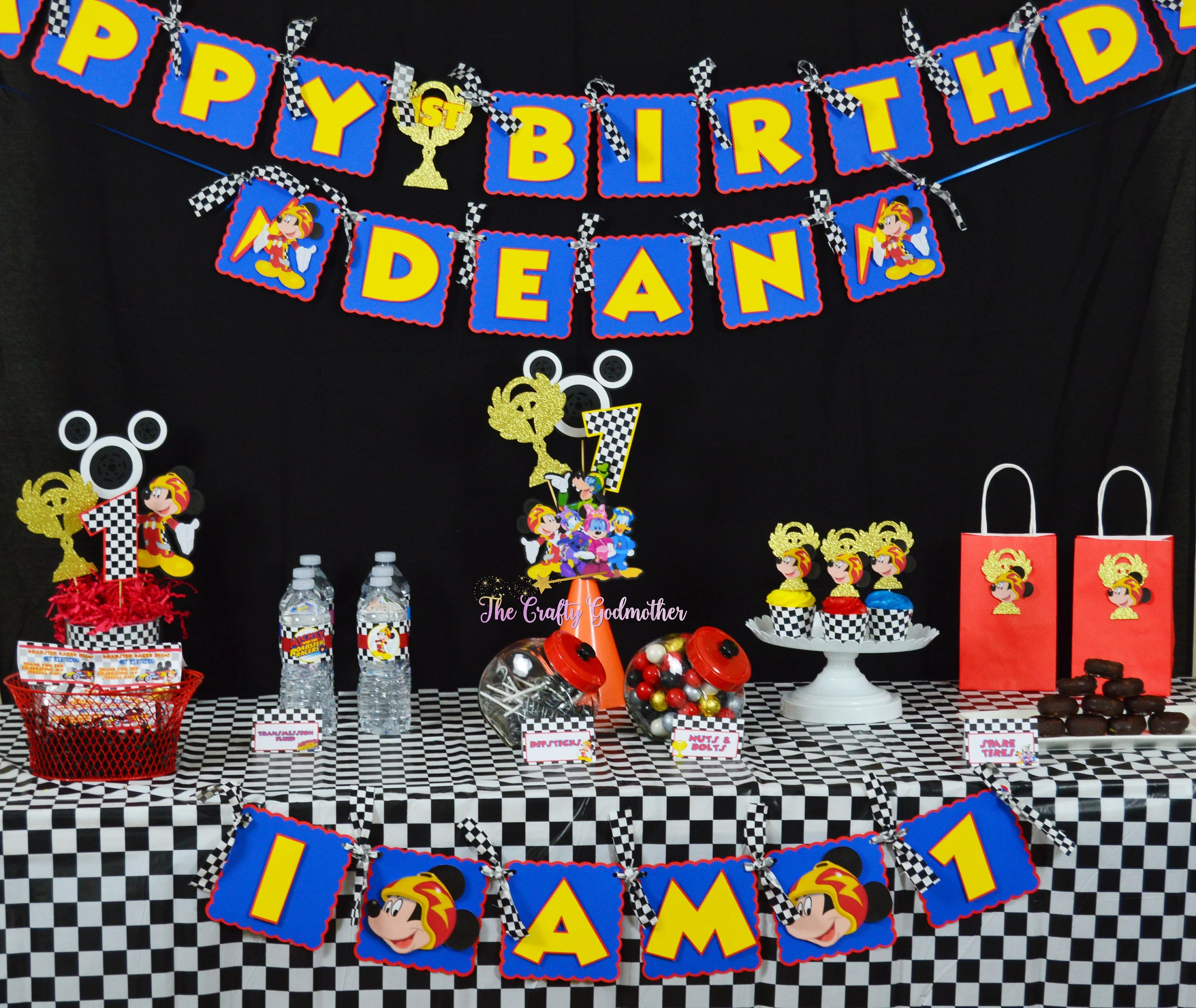 Disney Jr Mickey And The Roadster Racers Birthday Banner Etsy