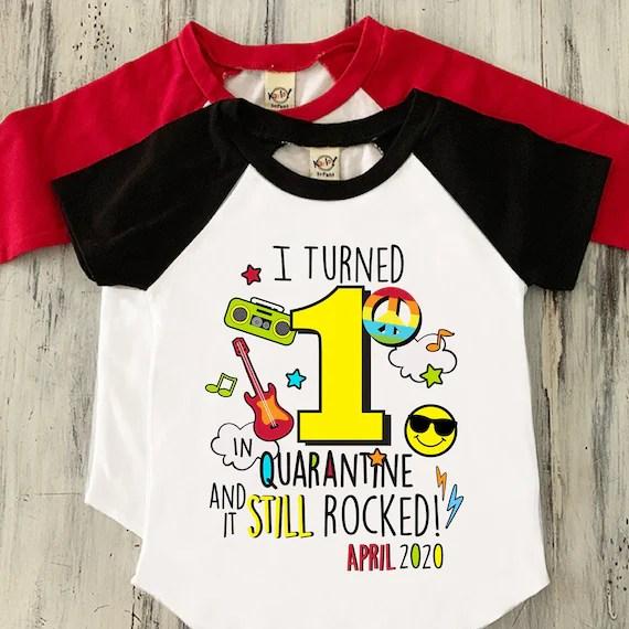 Boys Quarantine 1st Birthday Shirt Boys Quarantine First Etsy